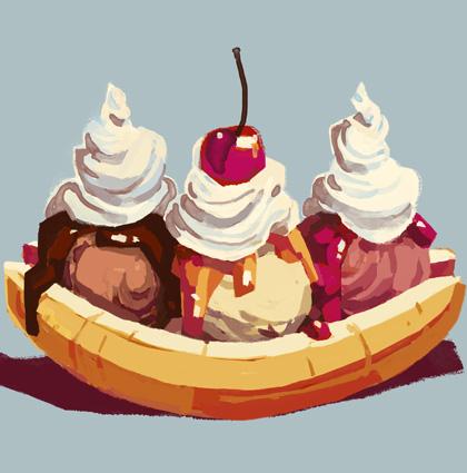 Food illustration mix